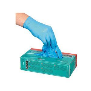 DexPure 800-91. Guante nitrilo azul empolvado
